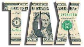 TAX. US Dollar texture. Stock Photography