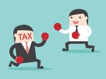 TAX vs Businessman Stock Photo