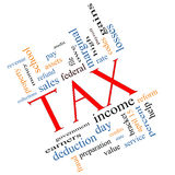 Tax Word Cloud Concept angled Stock Images
