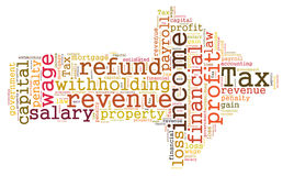 Tax word cloud Royalty Free Stock Photography