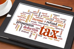 Tax  word cloud Stock Image