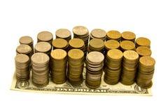 Taxa de câmbio do dólar Imagens de Stock