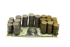 Taxa de câmbio do dólar Foto de Stock