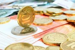 Taxa de câmbio do rublo. Fotografia de Stock