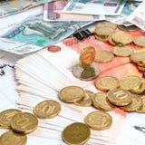 Taxa de câmbio do rublo. Fotografia de Stock Royalty Free