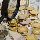 Taxa de câmbio do rublo Imagem de Stock Royalty Free