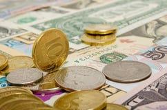 Taxa de câmbio do rublo Fotografia de Stock Royalty Free