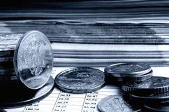Taxa de câmbio do rublo Foto de Stock