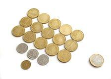 Taxa de coroas estónias ao euro Fotos de Stock