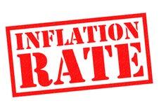 Taxa de inflação ilustração royalty free