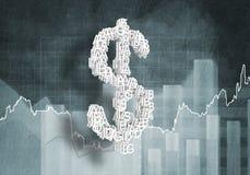 Taxa de moeda do dólar, rendição 3D Imagens de Stock Royalty Free