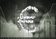 Taxa de moeda do Euro, rendição 3D Fotografia de Stock