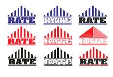 Taxa do logotipo Imagens de Stock Royalty Free