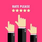 A taxa entrega o cartaz Imagem de Stock Royalty Free