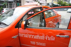 Taxameter in Bangkok Stock Afbeelding
