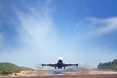 Taxando o avião Imagens de Stock