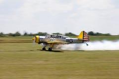 Taxando o avião Fotografia de Stock Royalty Free