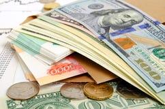 Taxas de câmbio Foto de Stock
