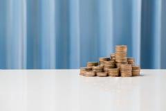 Taxas de câmbio conceito da moeda, baht tailandês do THB da moeda do dinheiro Foto de Stock