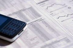 Taxas de câmbio Imagem de Stock Royalty Free