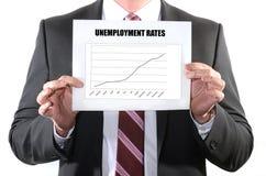 Taxas de desemprego da aumentação Foto de Stock Royalty Free