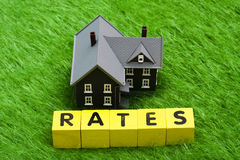 Taxas de hipoteca Foto de Stock Royalty Free