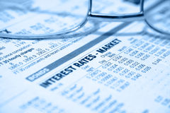 Taxas de interesse - mercados Imagem de Stock Royalty Free