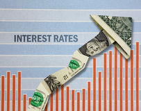 Taxas de juro crescentes Fotos de Stock