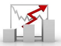 Taxas do gráfico e do estoque de negócio ilustração do vetor