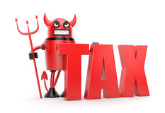 Taxation. Business concept. Separated on white Royalty Free Stock Photos