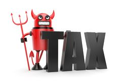 Taxation. Business concept. Separated on white Royalty Free Stock Image