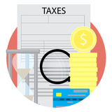 Taxation icon vector Royalty Free Stock Image