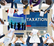 Taxation Payment Finance Economy Accounting Concept Stock Photo