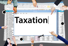 Taxation Payment Finance Economy Accounting Concept Stock Photography