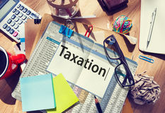 Taxation Payment Finance Economy Accounting Concept Royalty Free Stock Image