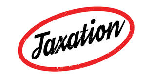 Taxation rubber stamp Stock Images