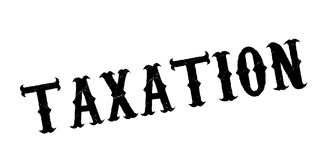 Taxation rubber stamp. Grunge design with dust scratches. Effects can be easily removed for a clean, crisp look. Color is easily changed Royalty Free Stock Photos
