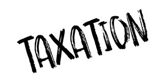Taxation rubber stamp. Grunge design with dust scratches. Effects can be easily removed for a clean, crisp look. Color is easily changed Stock Photo