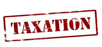 Taxation. Stamp with word taxation inside,  illustration Royalty Free Stock Photos