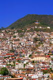 Taxco鸟瞰图  库存图片