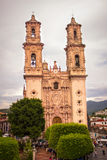 Taxco,格雷罗州教会  墨西哥 外面 库存照片