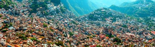 Taxco,格雷罗州,墨西哥鸟瞰图  免版税库存照片