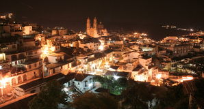 Taxco alla notte Immagine Stock