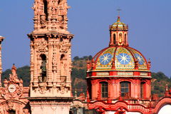 Taxco cathedral Royalty Free Stock Photography