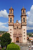 Taxco cathedral I. Famous cathedral of Santa Prisca located in taxco, guerrero, mexico Royalty Free Stock Images