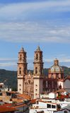 Taxco cathedral II. Famous cathedral of Santa Prisca located in taxco, guerrero, mexico Royalty Free Stock Image