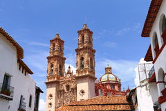 Taxco cathedral III Royalty Free Stock Image