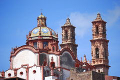 Taxco cathedral III Royalty Free Stock Photos