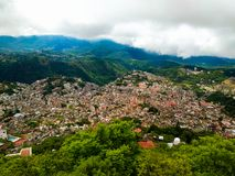 Taxco, Guerrero, México Uma vista aérea fotografia de stock royalty free