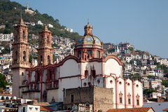 Taxco houses and Church  II Stock Photo